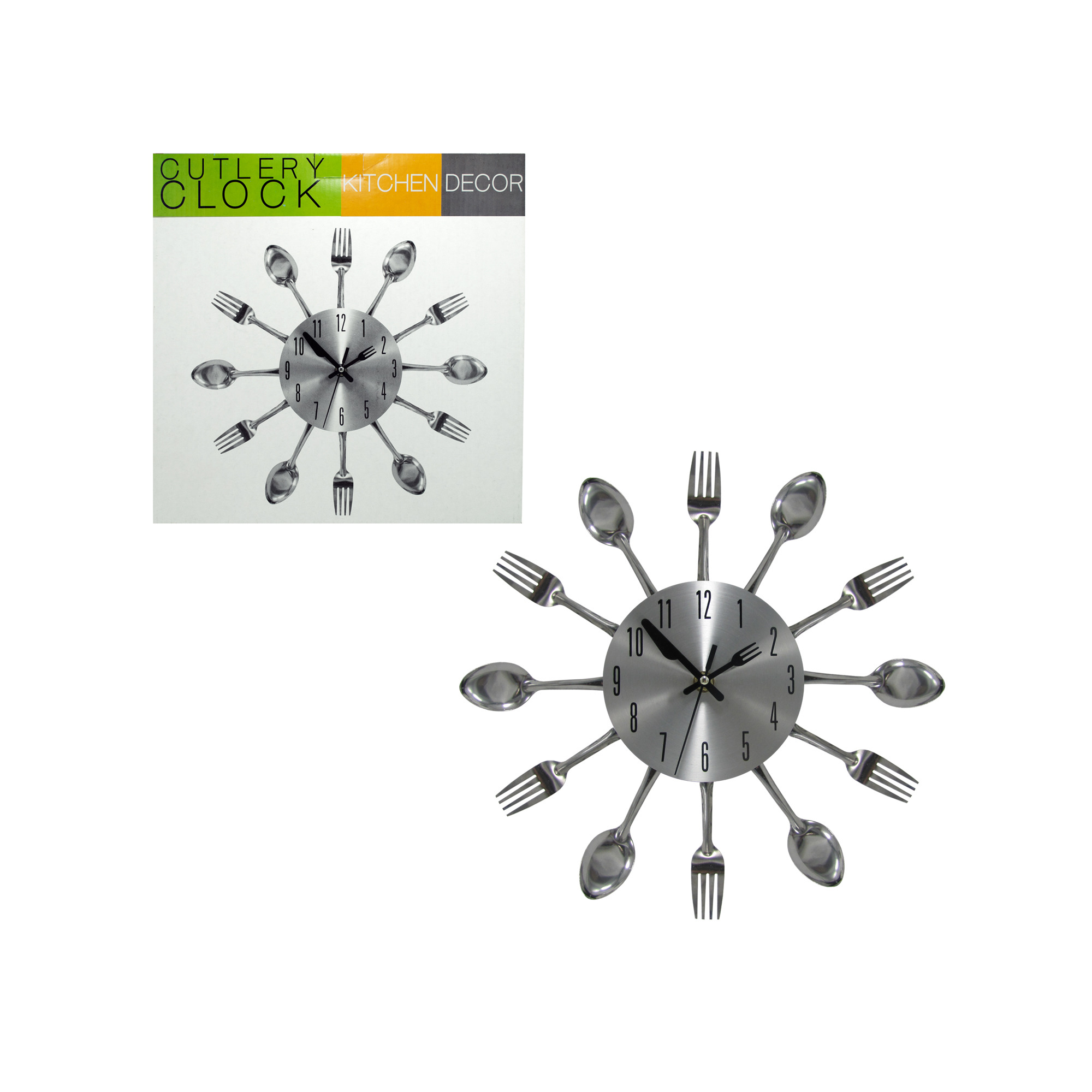 Wholesale Kitchen Cutlery Wall Clock bulk buys Home