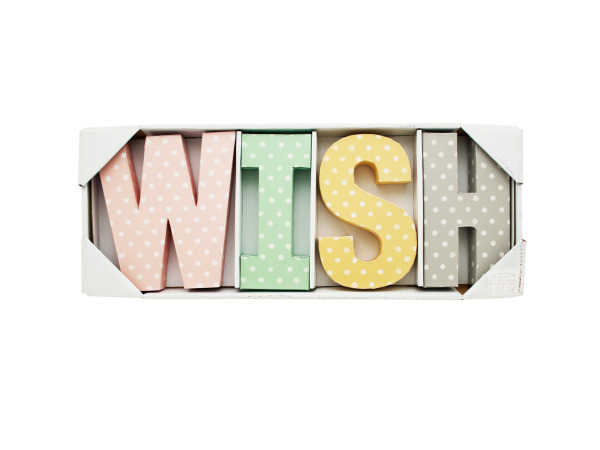 Home Decor Wall Letters : Wholesale wish letters wall decor bulk buys home