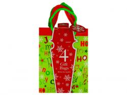 Wholesale 4 Pack Christmas Themed Small Bags