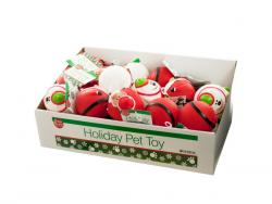 Wholesale Holiday Dog Squeaky Ball Toy Countertop Display
